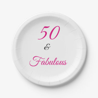 50 and Fabulous Paper Plate