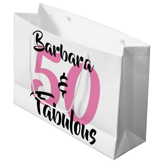 50 And Fabulous Personalised Birthday Party Large Gift Bag
