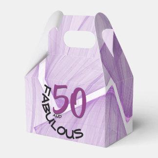 50 and Fabulous | Purple & Black Birthday Theme Favour Box