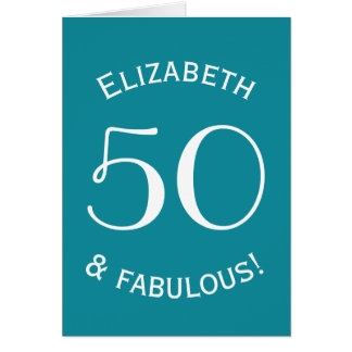 50 and Fabulous Simple Style Custom Color A03 Card