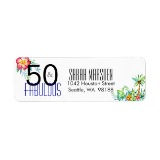 50 and Fabulous Tropical 50th Birthday