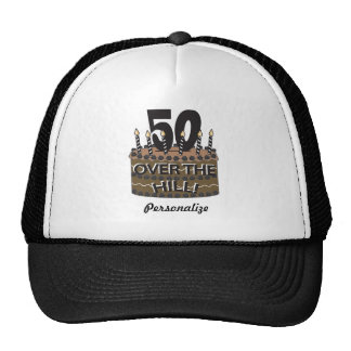 50 and Over the Hill   50th Birthday   DIY Name Cap