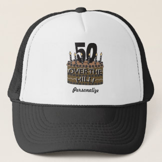 50 and Over the Hill | 50th Birthday | DIY Name Trucker Hat