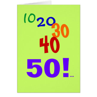 50 and Still Accounting - 50th Birthday Card