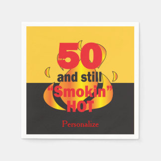 50 and Still Smokin Hot | 50th Birthday Disposable Serviette