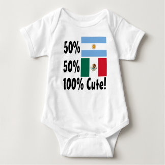 50% Argentina 50% Mexican 100% Cute Baby Bodysuit