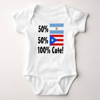 50% Argentinian 50% Puerto Rican 100% Cute Baby Bodysuit