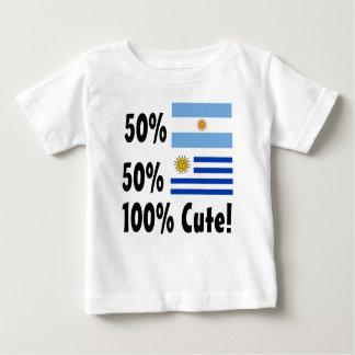50% Argentinian 50% Uruguayan 100% Cute Baby T-Shirt