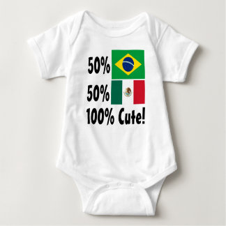 50% Brazilian 50% Mexican 100% Cute Baby Bodysuit