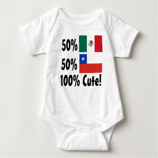 50% Chilean 50% Mexican 100% Cute Baby Bodysuit