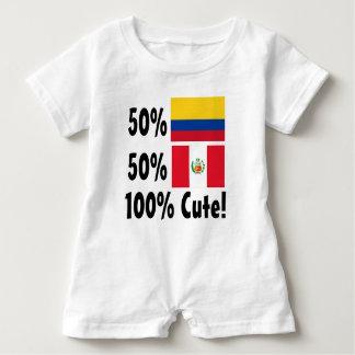 50% Colombian 50% Peruvian 100% Cute Baby Bodysuit
