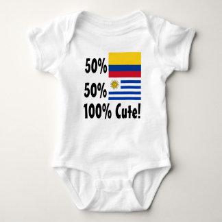 50% Colombian 50% Uruguayan 100% Cute Baby Bodysuit
