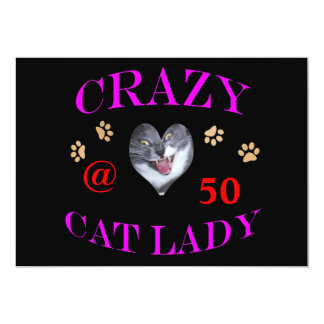 50 Crazy Cat Lady Card