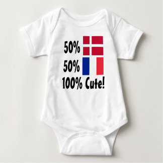 50% Danish 50% French 100% Cute Baby Bodysuit