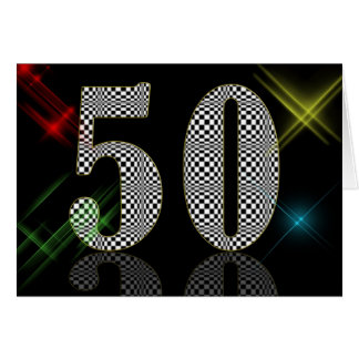50 Dazzle Greeting Card