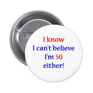 50 Either 6 Cm Round Badge