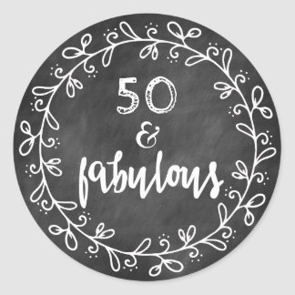 50 & Fabulous 50th Birthday Custom Stickers