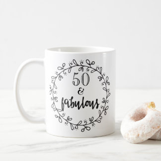 50 & Fabulous 50th Birthday Mug