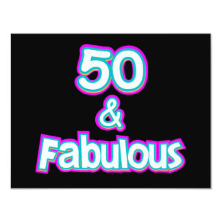 50 & Fabulous Birthday Gifts Card