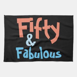 50 & Fabulous Birthday Tea Towel