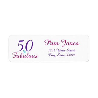 50 Fabulous Colorful Birthday Return Address Label