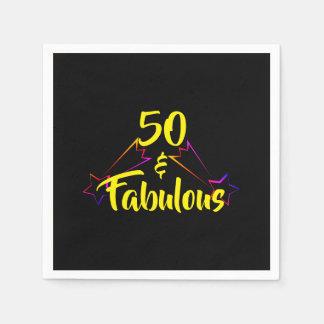50 & Fabulous - Disposable Serviettes