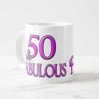 50 & FABULOUS LARGE COFFEE MUG