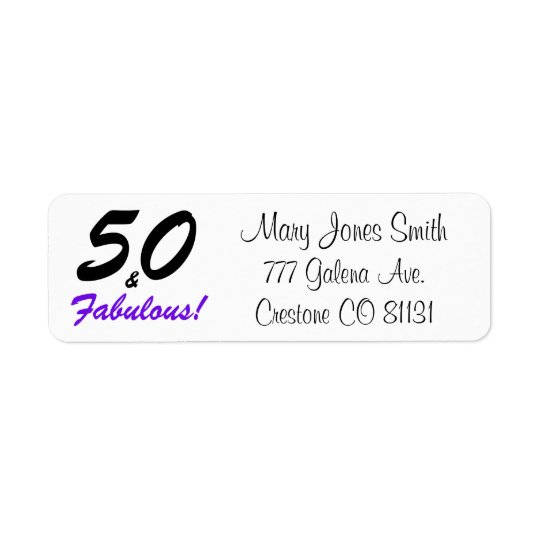50 & Fabulous set in black and purple