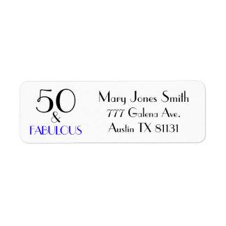 50 & Fabulous set in popular typography