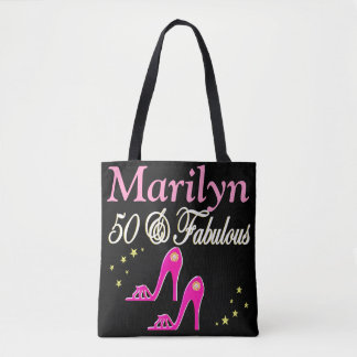 50 & FABULOUS SHOE QUEEN PERSONALIZED TOTE BAG