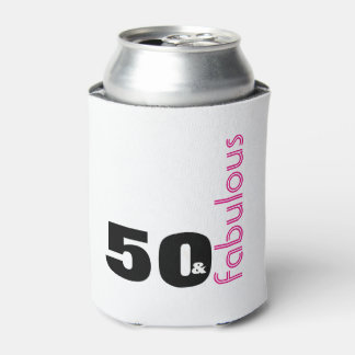 50 & Fabulous Themed 50th Birthday Party Souvenir Can Cooler