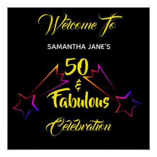 50 & Fabulous Woman's Birthday - Poster