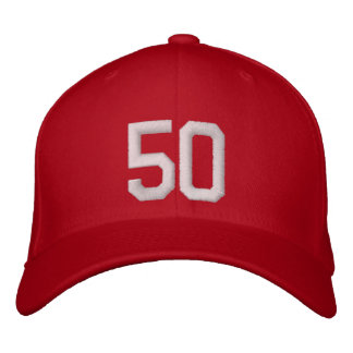 50 Fifty Embroidered Hats