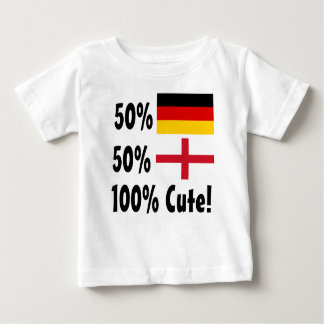 50% German 50% English 100% Cute Baby T-Shirt