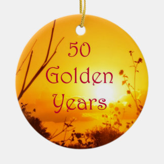 50 Golden Years Customize With Your Photo Christmas Ornament