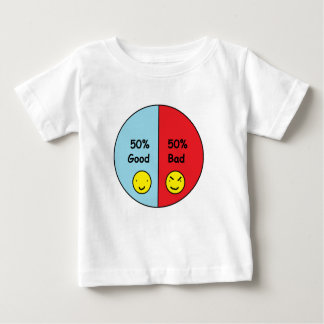 50% Good and 50% Bad Pie Chart Baby T-Shirt