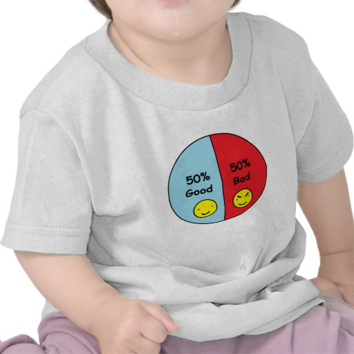 50% Good and 50% Bad Pie Chart Shirt