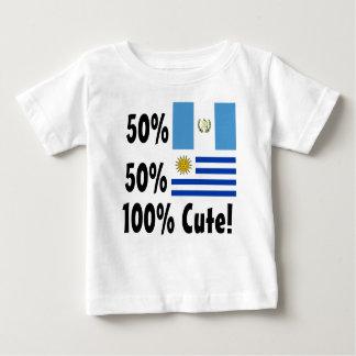 50% Guatemalan 50% Uruguayan 100% Cute Baby T-Shirt