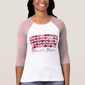 50 Hearts for 50 years! T-shirts