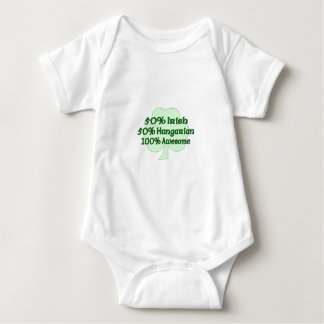 50% Irish 50% Hugarian 100% Awesome Baby Bodysuit