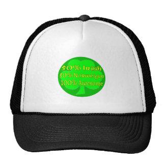 50% Irish 50% Norweigan 100% Awesome Trucker Hats