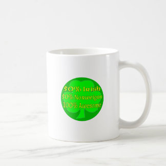 50% Irish 50% Norweigan 100% Awesome Coffee Mugs
