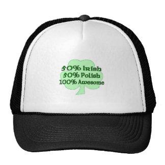 50% Irish 50% Polish 100% Awesome Mesh Hats