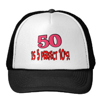 50 is 5 perfect 10s (PINK) Cap