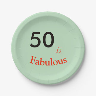 50 is Fabulous party paper plate matching set