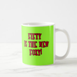 50 is the New Foxy Products Basic White Mug