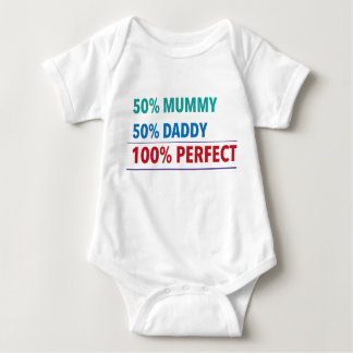 50% Mummy, 50% Daddy, 100% Perfect Baby Bodysuit