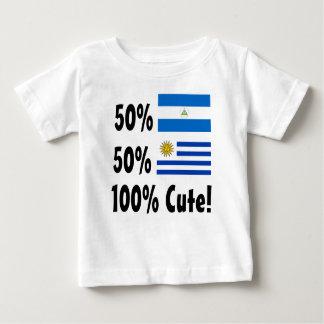 50% Nicaraguan 50% Uruguayan 100% Cute Baby T-Shirt