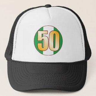 50 NIGERIA Gold Trucker Hat