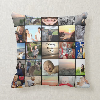 50 of Your Instagram Photos Here Throw Pillow